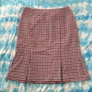 Talbots Houndstooth Fit and Flare Skirt Size 12